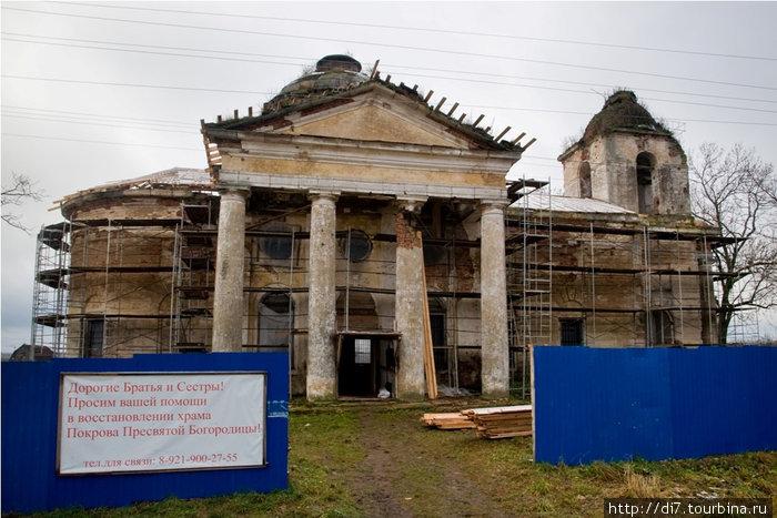 Деревня Дятлицы, церковь Покрова Пресвятой Богородицы, построена в 1781 году