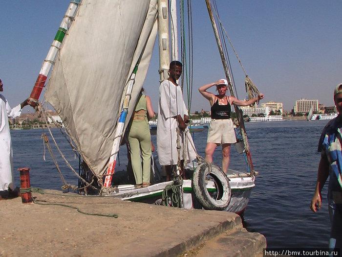На яхте по Нилу.