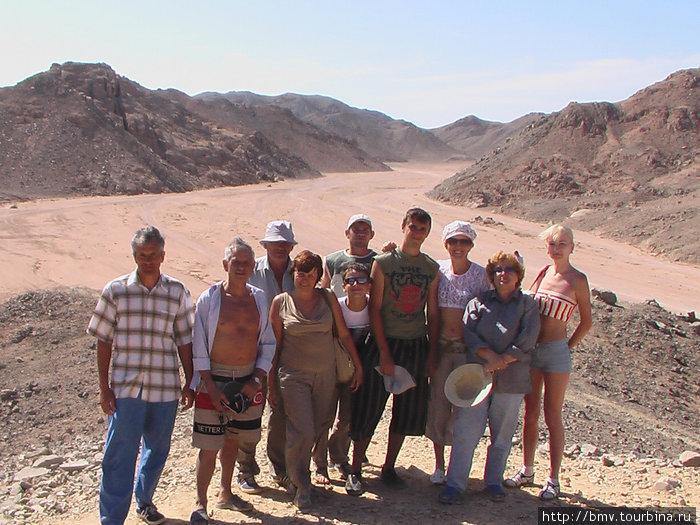 В пустыне.
