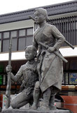 Памятник солдатам отряда Бьяккотай на станции Айзу