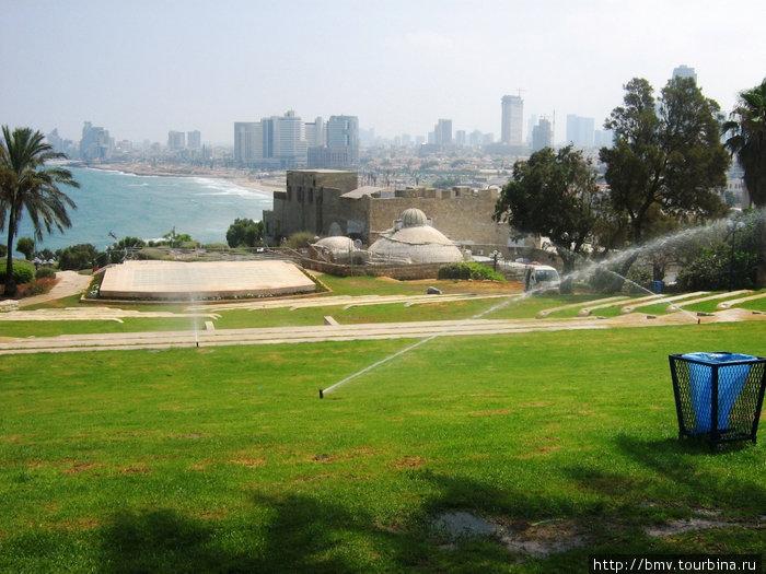 Вид на Тель-Авив с холма Яффо.