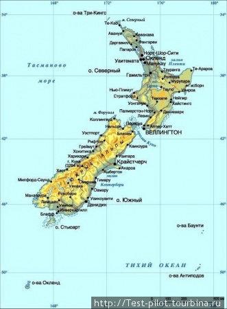 Новая Зеландия — два больших и еще куча маленьких островов, по кторым мы проехали, проплыли и прошли 5 тысяч километров