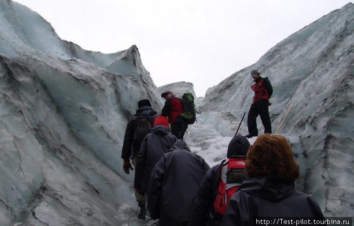 Восхождение по леднику