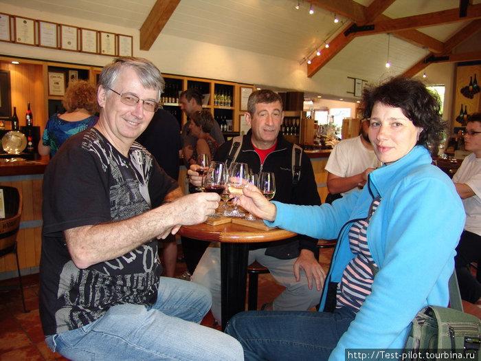 После дегустации под Квинстауном мы всё оставшееся путешествие пили новозеландское белое вино, но из красных вин (им надо всё-таки больше солнца) предпочитали всё же австралийские