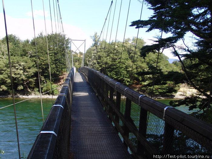 Подвесной мост в