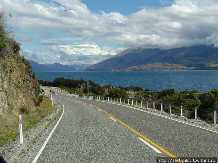 Типичное шоссе в Новой Зеландии