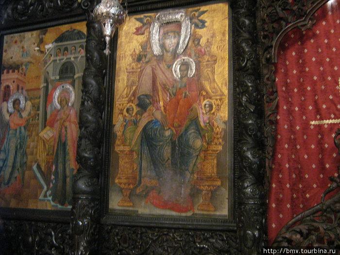 Иконы в церкови Святого Гавриила в Назарете.