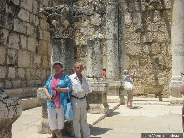 Синагога в Копернауме. Здесь ступала ного Спасителя.