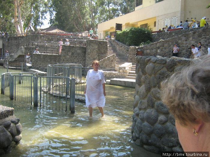 Место омовения в реке Иордан.