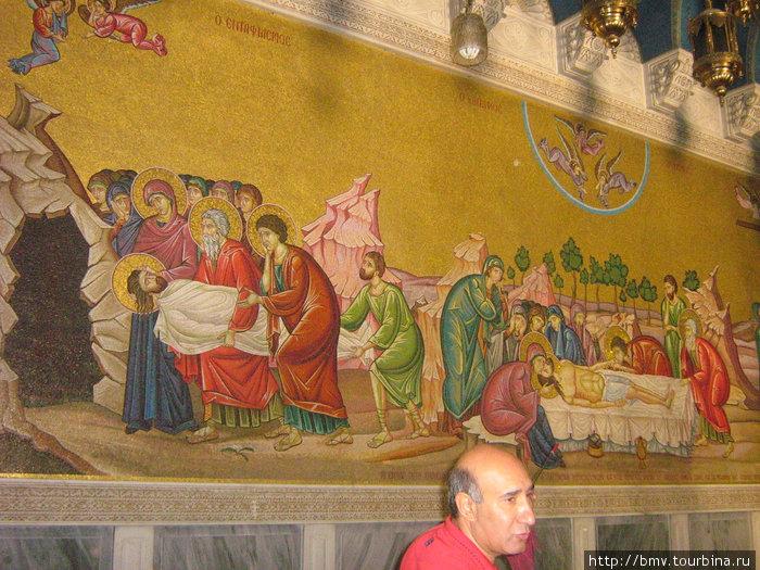 Росписи стен Храма Гроба Господня