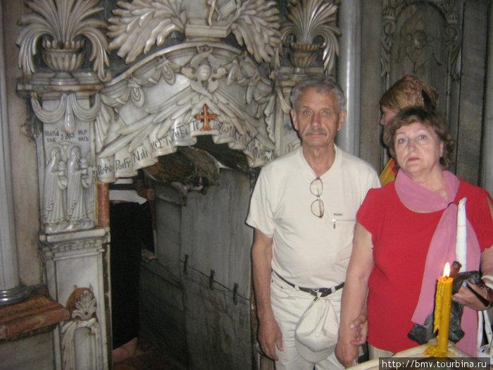 В часовне Храма Гроба Господня.