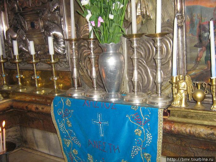 Украшения  в Храме Гроба Господня