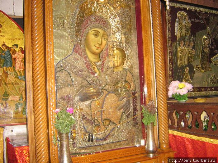 Икона в Храме рождества в Вефлиеме.