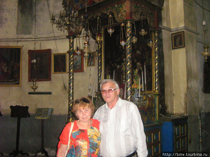 Католический надел в Храме Рождества в Вефлиеме.