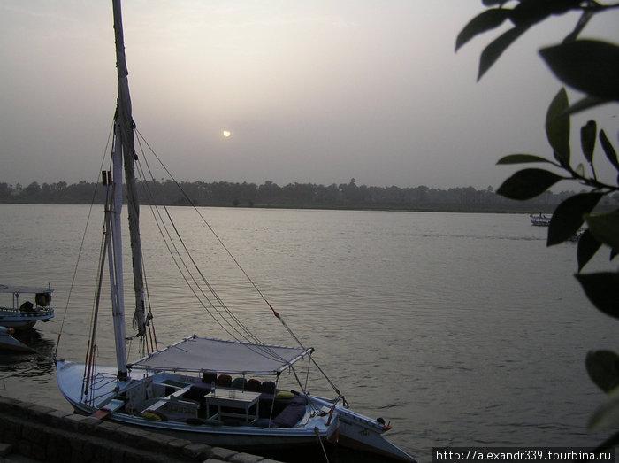 Луксор. Закат на Ниле