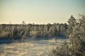 -40 градусов по Цельсии, по дороге из Ноябрьска в Сургут