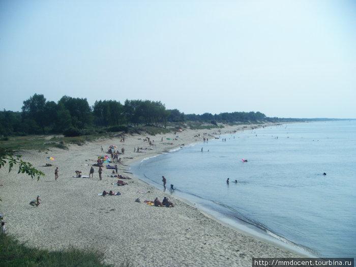 пляж возле пос.Коса, для тех, кому лениво в поисках уединения пройти пару километров