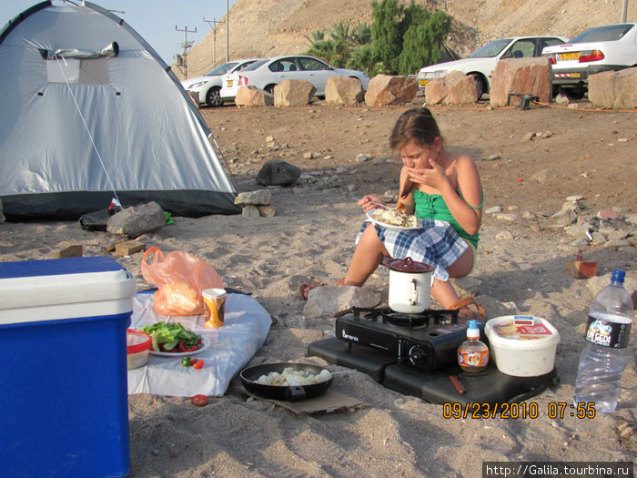 Эйлат.   Завтрак у моря.