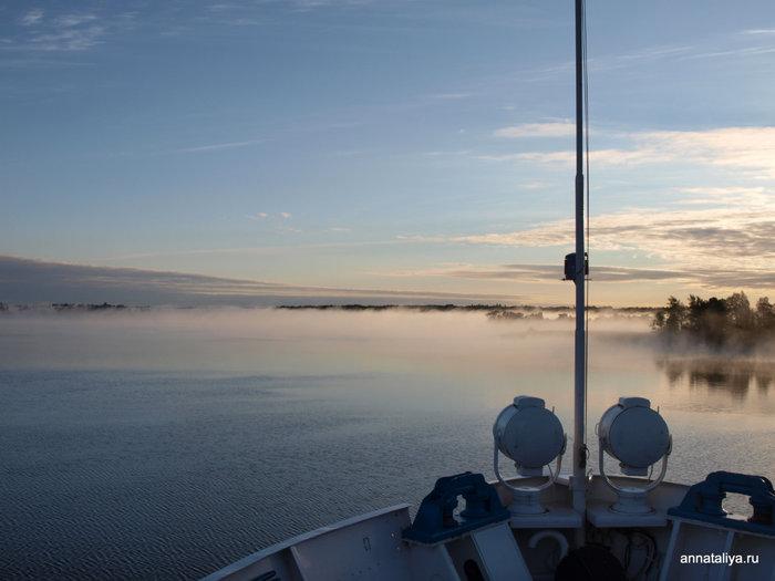 Карельское утро на Онежском озере