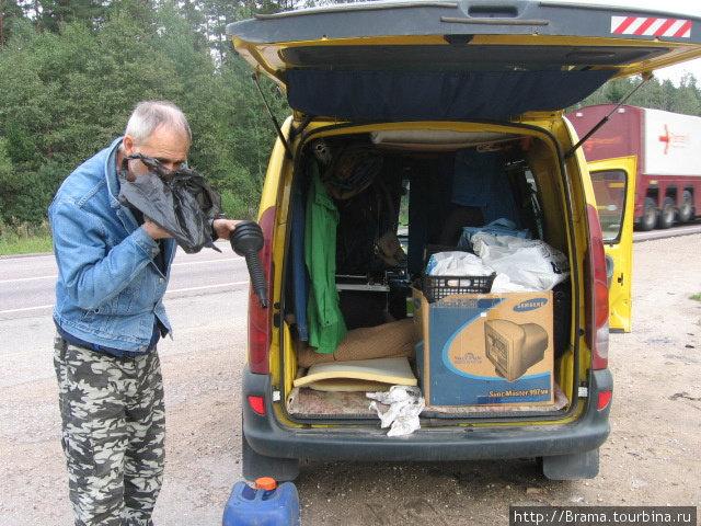 Вот так мы загрузили машину, выезжая из Санкт-Петербурга
