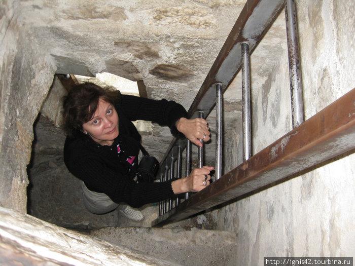 Жена и на башне найдет!!!  И высоты не испугается!!