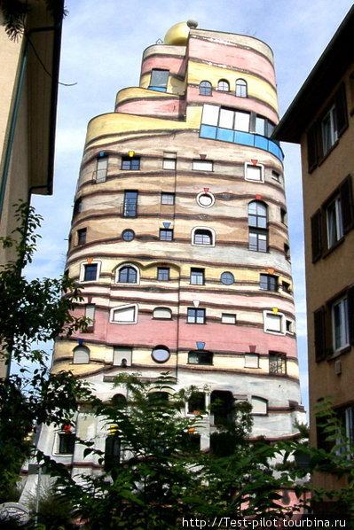 Дом Хундертвассера в Дармштадте