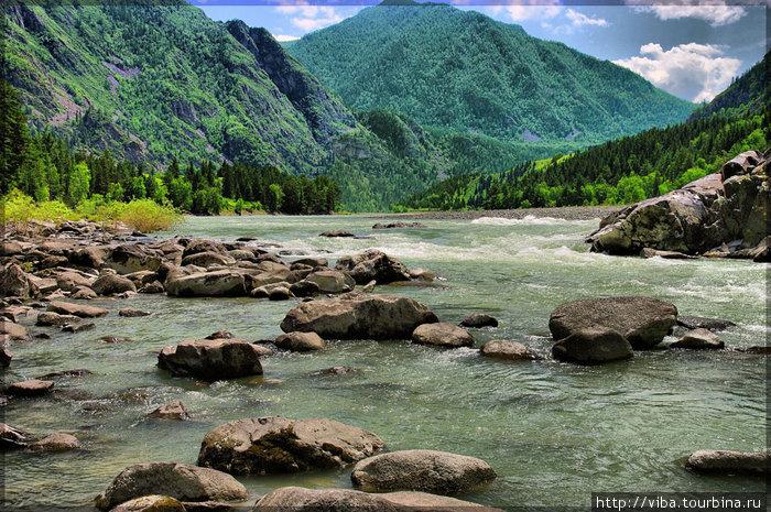 Пороги реки Катунь!