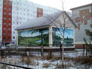 Вот так симпатично стали смотреться городские трансформаторные будки после того, как их стены расписали местные художники.