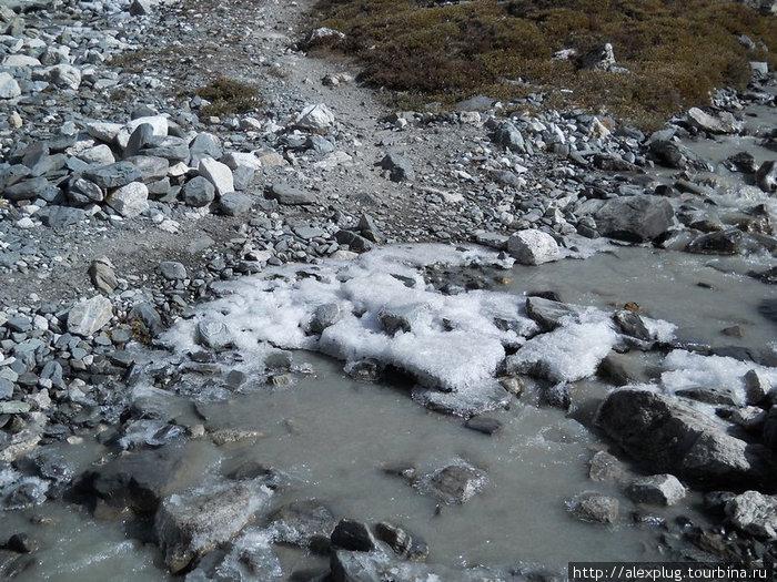 Замерзающая река.