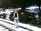 Где-то на половине пути снега было уже довольно много =)