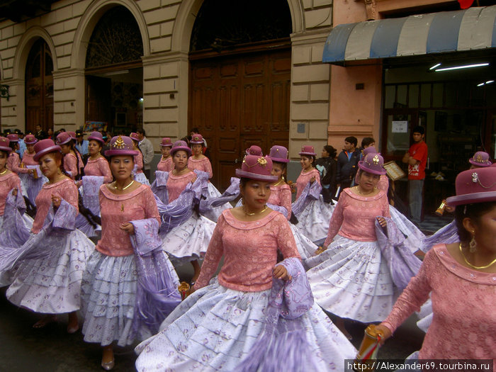 Карнавал в Лиме. Перуанки, как правило метиски, попадаются очень симпатичные