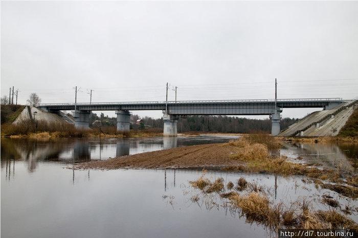 ЖД мост через Лугу