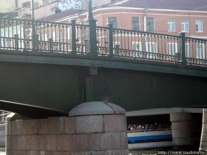 Плывём по Фонтанке под сенью мостов