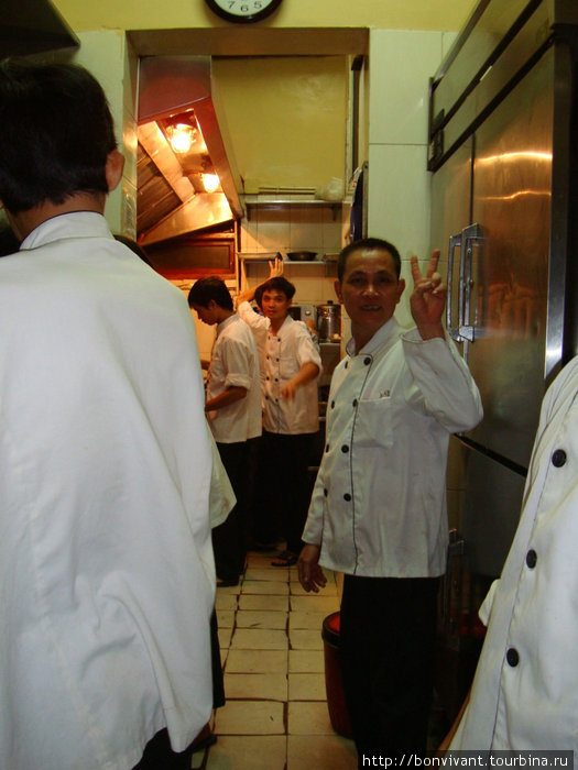 На кухне ресторана