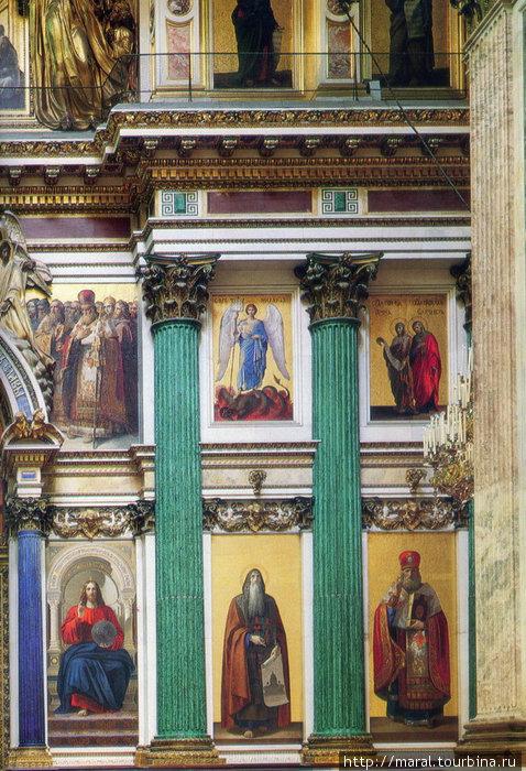 Главный иконостас. Слева направо от царских врат иконопись Тимофея Неффа