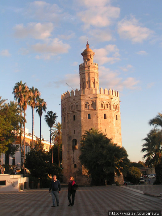 Башня в солнечных лучах