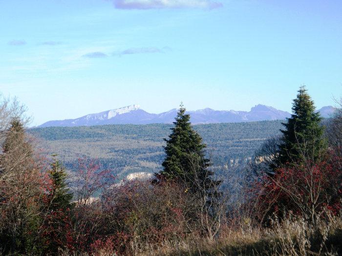 Вид с горы на северо-запад