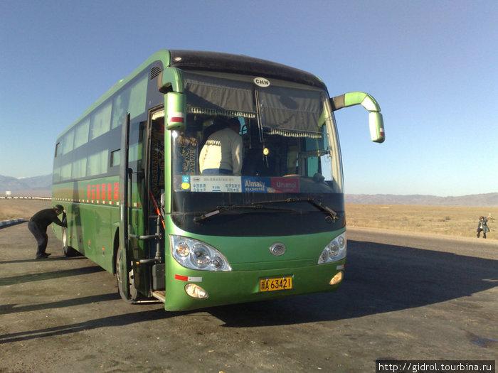 Наш спальный автобус Алматы-Урумчи.