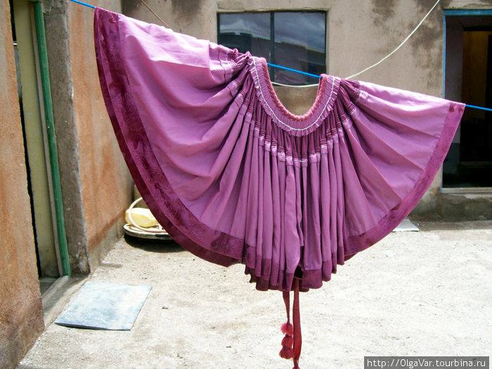 Знаменитая юбка боливиек