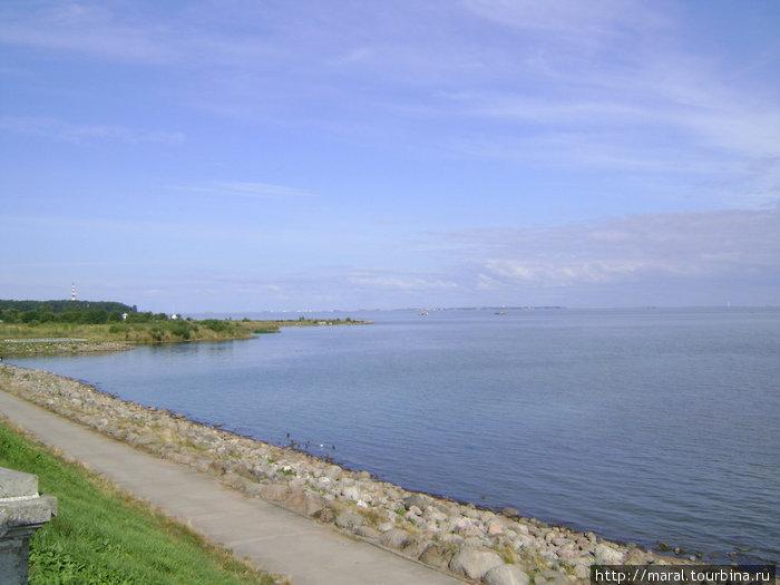 Финский залив с видом на Кронштадт