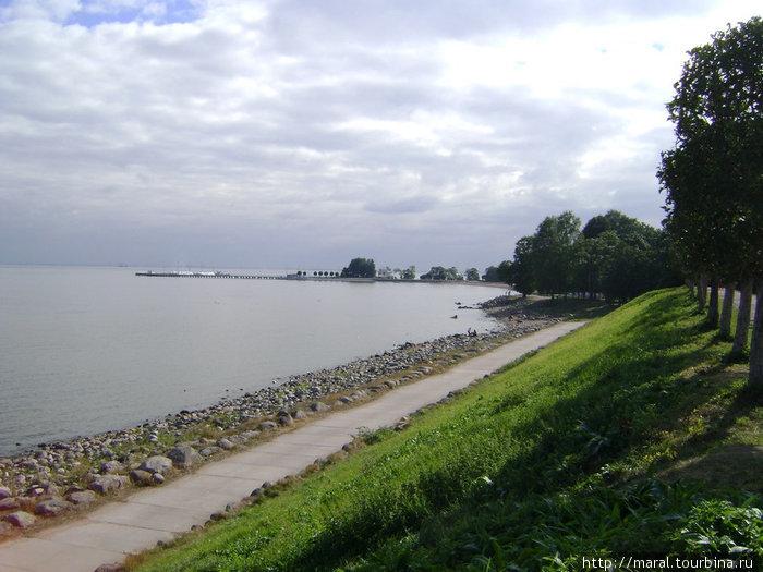 Финский залив с видом на пристань