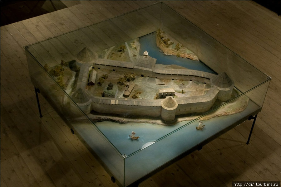 Музей в Старой Ладоге, макет крепости