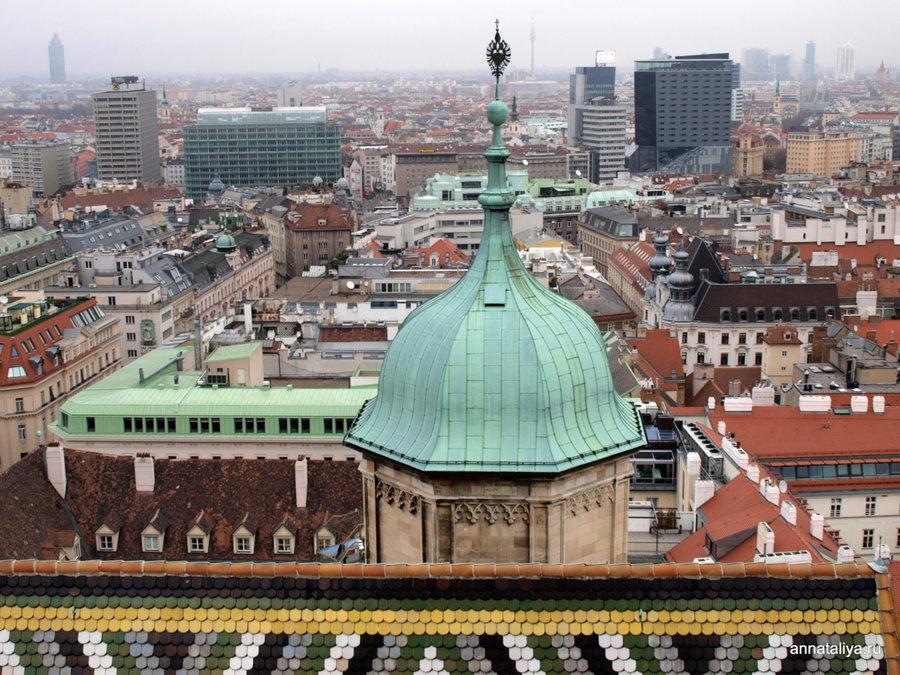 Вид на Вену с башни собора святого Стефана