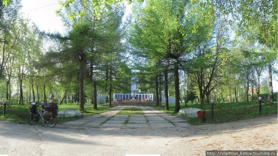 Вид на парк от гостиницы