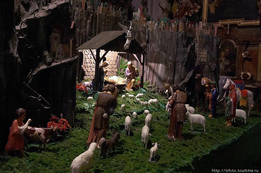 Вертеп — сцена о рождении Христа. Прага, Чехия