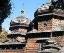 Фрагмент куполов храма.