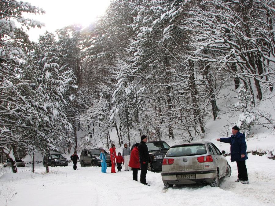 Пробки по дороге на Ай-Петри