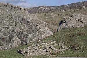 Руины крепости в Хаттуше