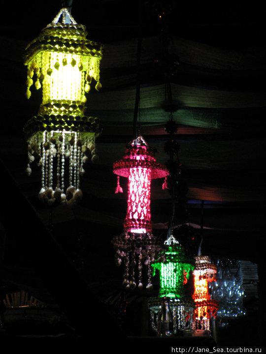 фонарики из ракушек