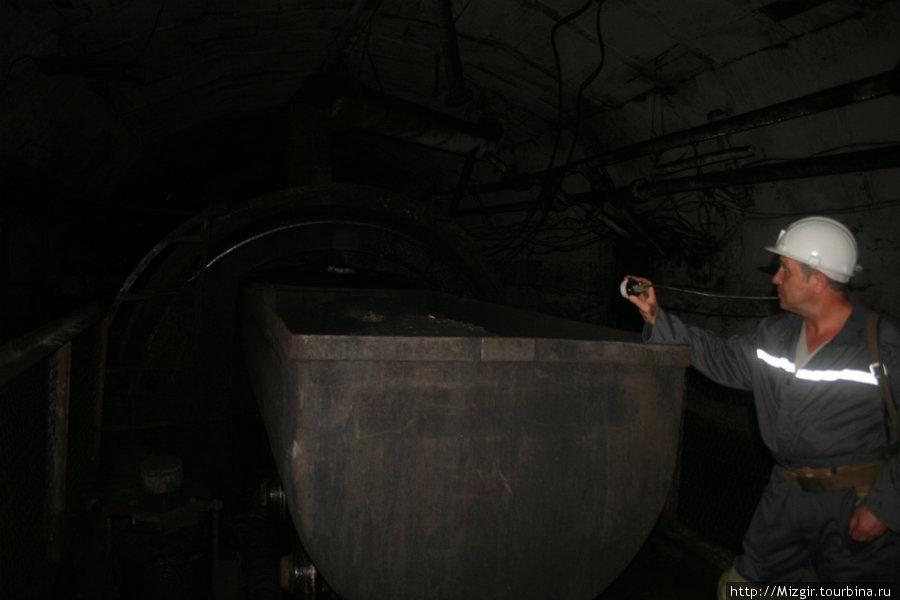 На угольном опрокиде